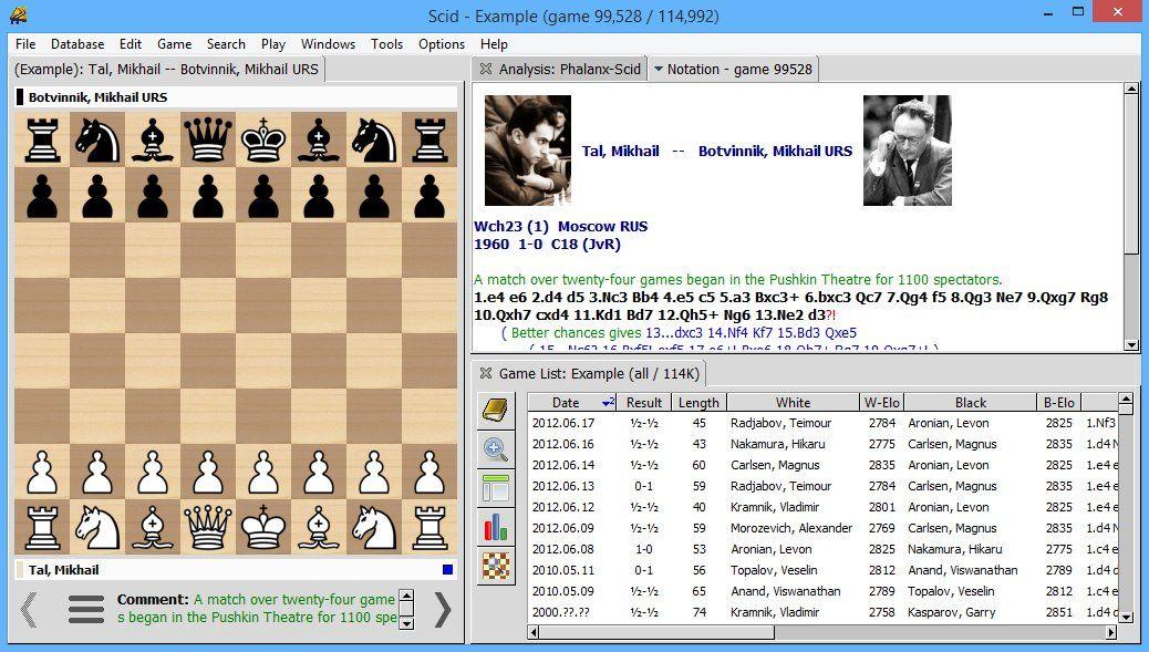 Scid v4.7.0 Free database of millions of past chess games