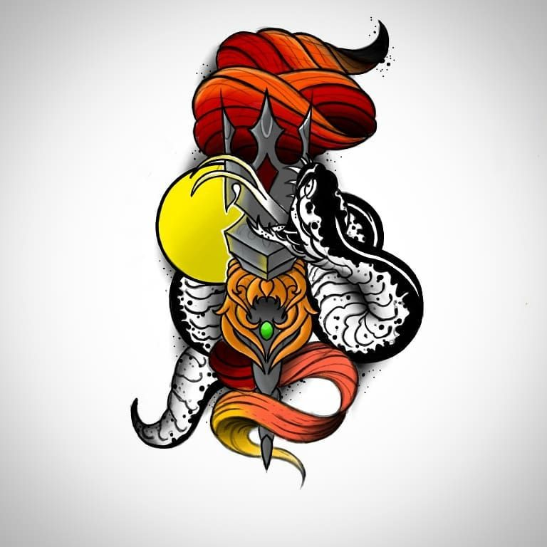 Torch and Snake  #torch #tattoo #tattoodesign #sketchbook #drawing #tattooed #art #artsy #sketch #flames #colortattoo #color #snake #snaketattoo