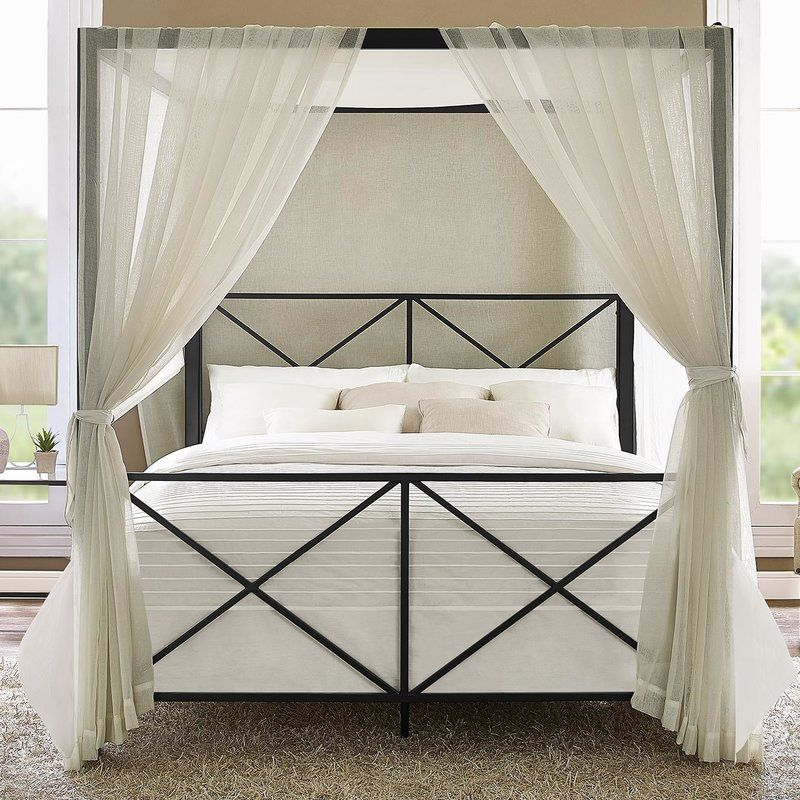 Gilma Canopy Bed Canopy bed frame, Metal canopy bed