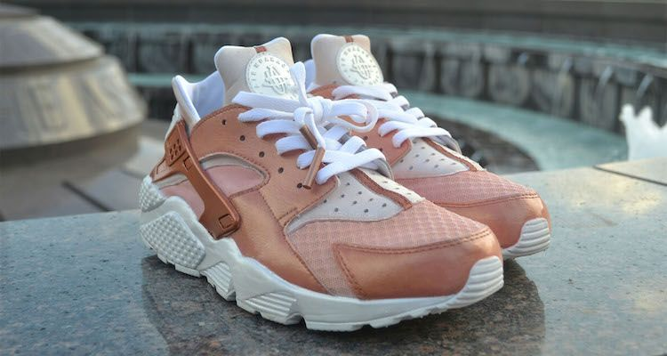 ... nike air huarache pearlie raibon custom by bagocustoms ... Rose ... 86e7fc289