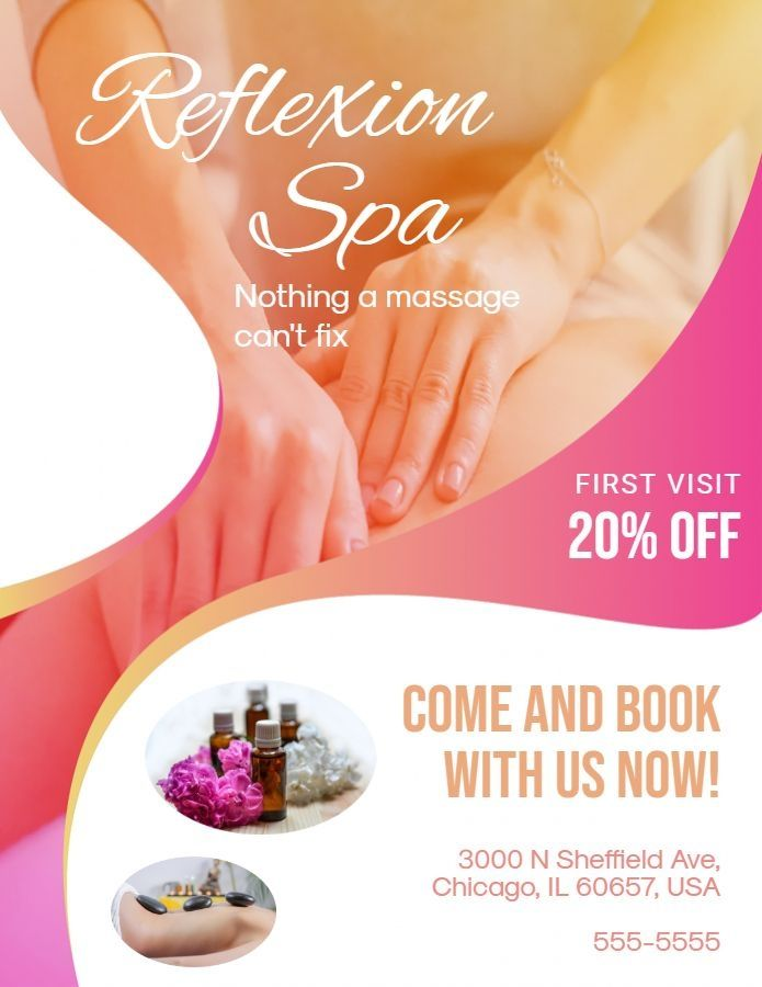 Massage And Health Free Psd Flyer Template Download Spa Flyers Spa Flyer Free Psd Flyer Flyer Template