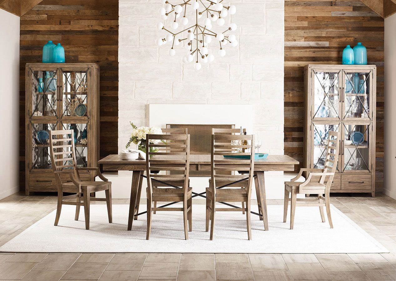 Modern Forge Laredo Dining Room Set W Canton Ladder Back Chairs Furniture White Dining Room Sets Dining Room Set