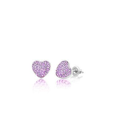 a03298f81cc26 chanteur designs Loving this Violet Heart Stud Earrings With ...