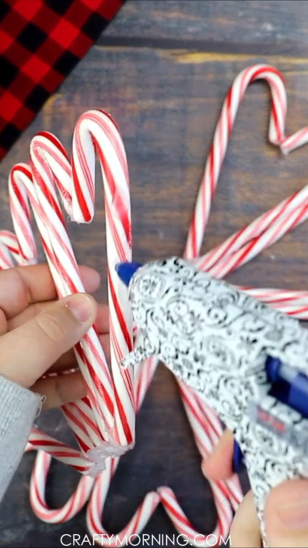 Photo of Candy cane wreath