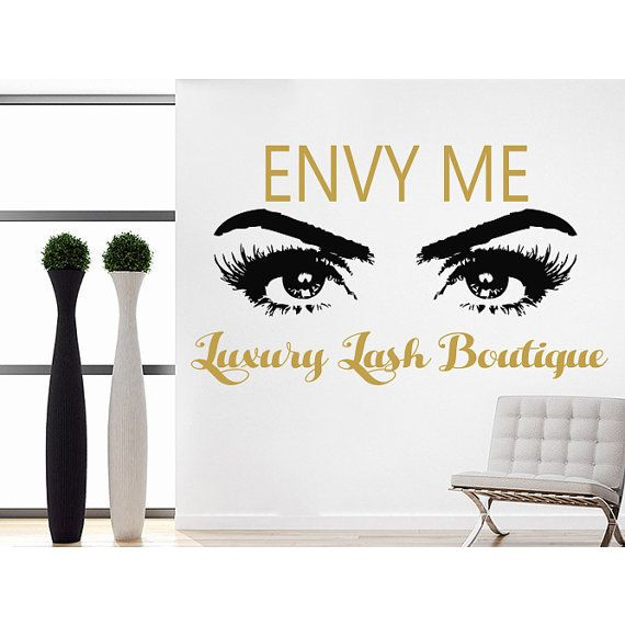 Luxury Lash Boutique Quote Beauty Salon Decor Eyes Makeup Cosmetic Hairdressing Sticker Decal size 22x30 Color