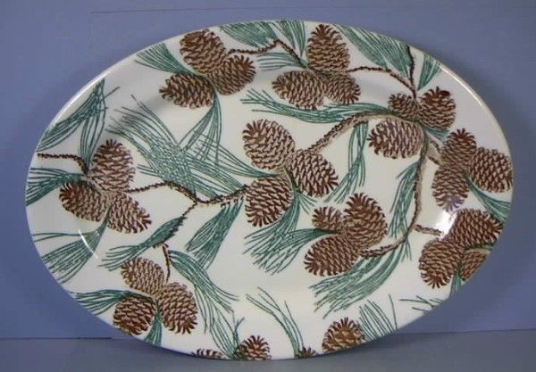 Tepco China Co. Restaurant Ware Pinecone Platter, 8-1/2 x 12 inches | SOLD $152 eBay 2-1-15