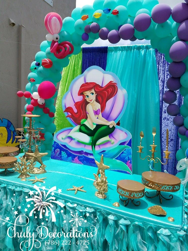 Pin de chuly decorations en litter mermaid sirenita ariel for Fiesta tematica sirenas