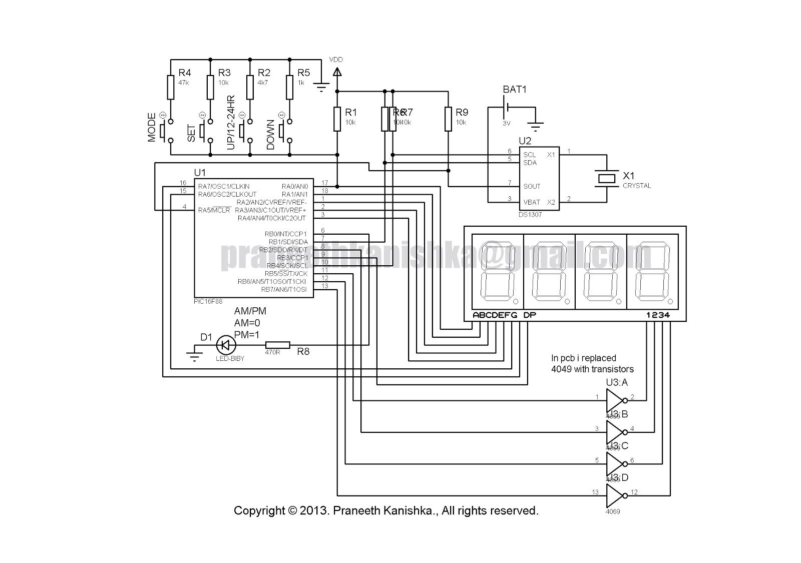 Ds Real Time Clock Circuit
