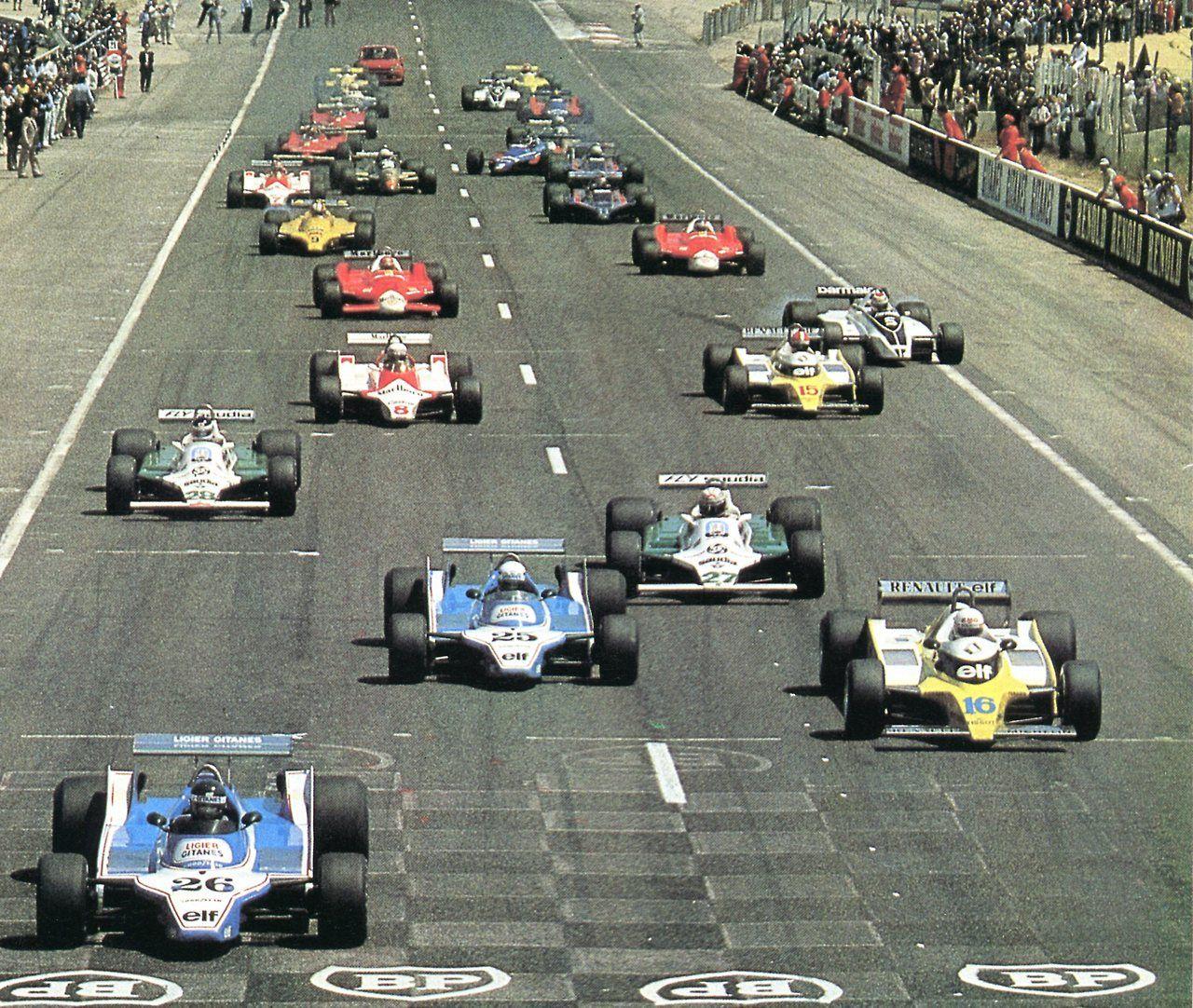 Départ du Grand Prix de France circuit Paul Ricard