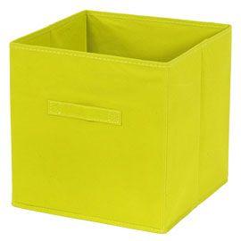 Panier de rangement carré intissé vert Mixxit | Panier rangement, Cube rangement, Rangement