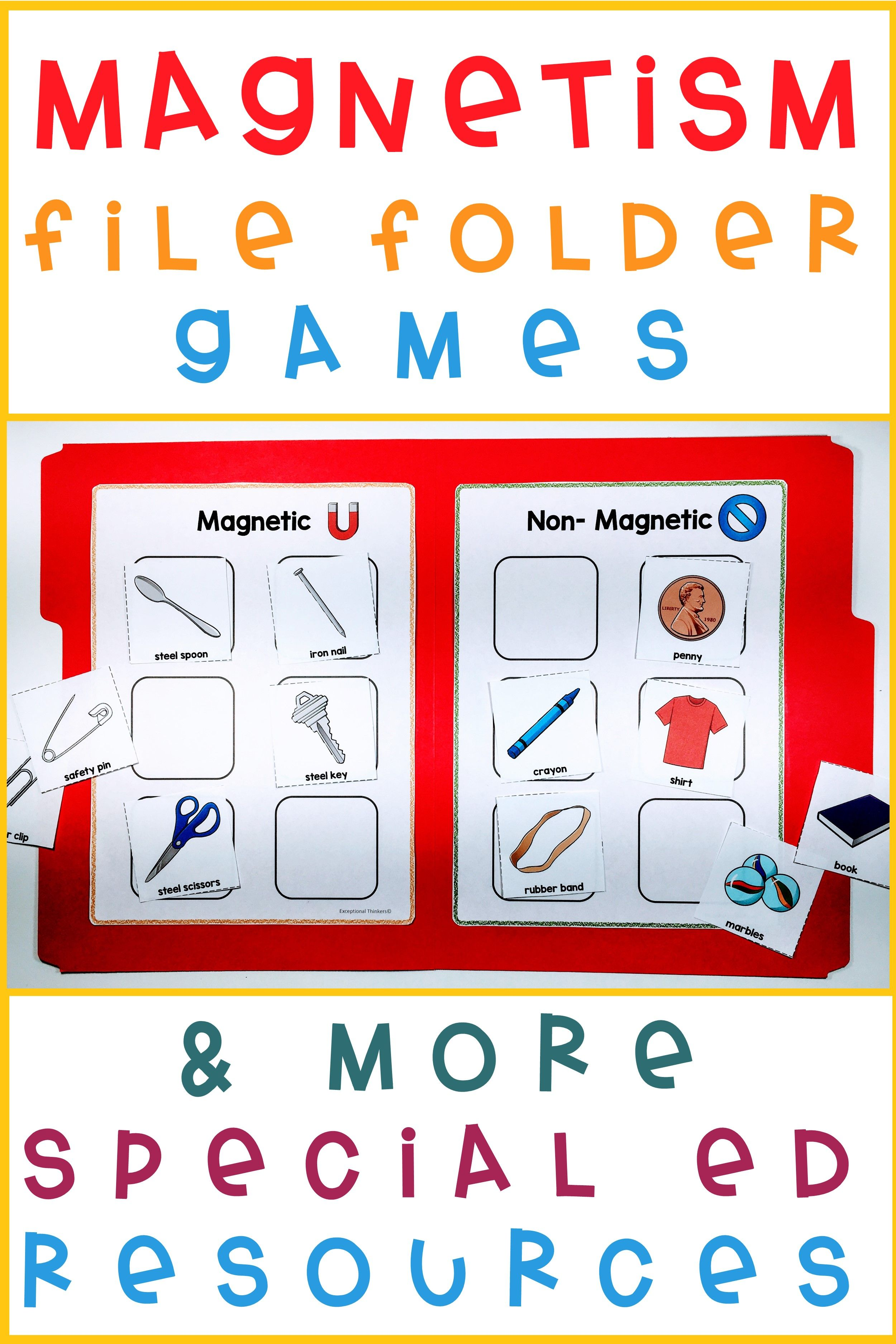 This Magnetic And Non Magnetic File Folder Game Is The