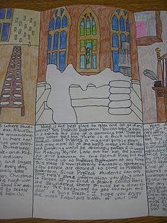 book report idea travel brochure school reading books and