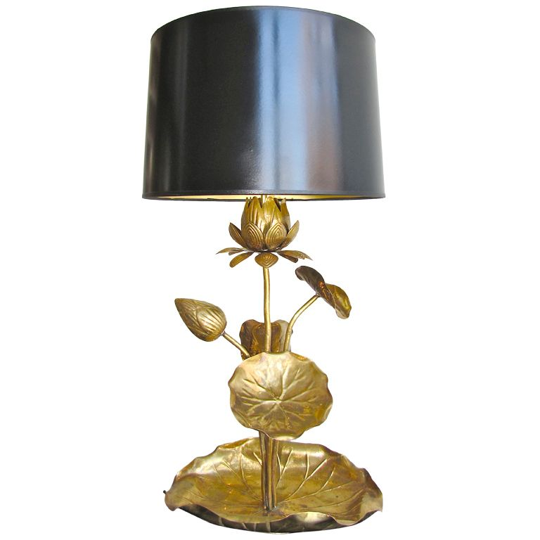 1stdibs   Rare Brass Lotus Blossom Lilly Pad Table Lamp Explore Items From  1,700 Global Dealers