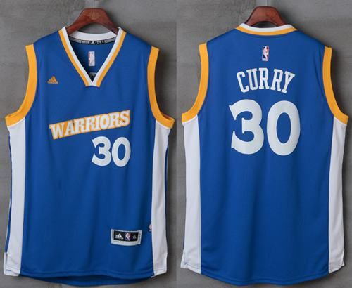 wholesale dealer 21336 685f3 Warriors #30 Stephen Curry Royal Stretch Crossover Stitched ...