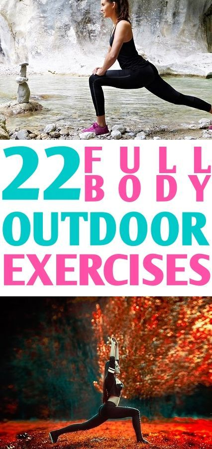 Being outdoor doesn't mean you can't workout! These 22 exercises are made specifically to do outdoor...