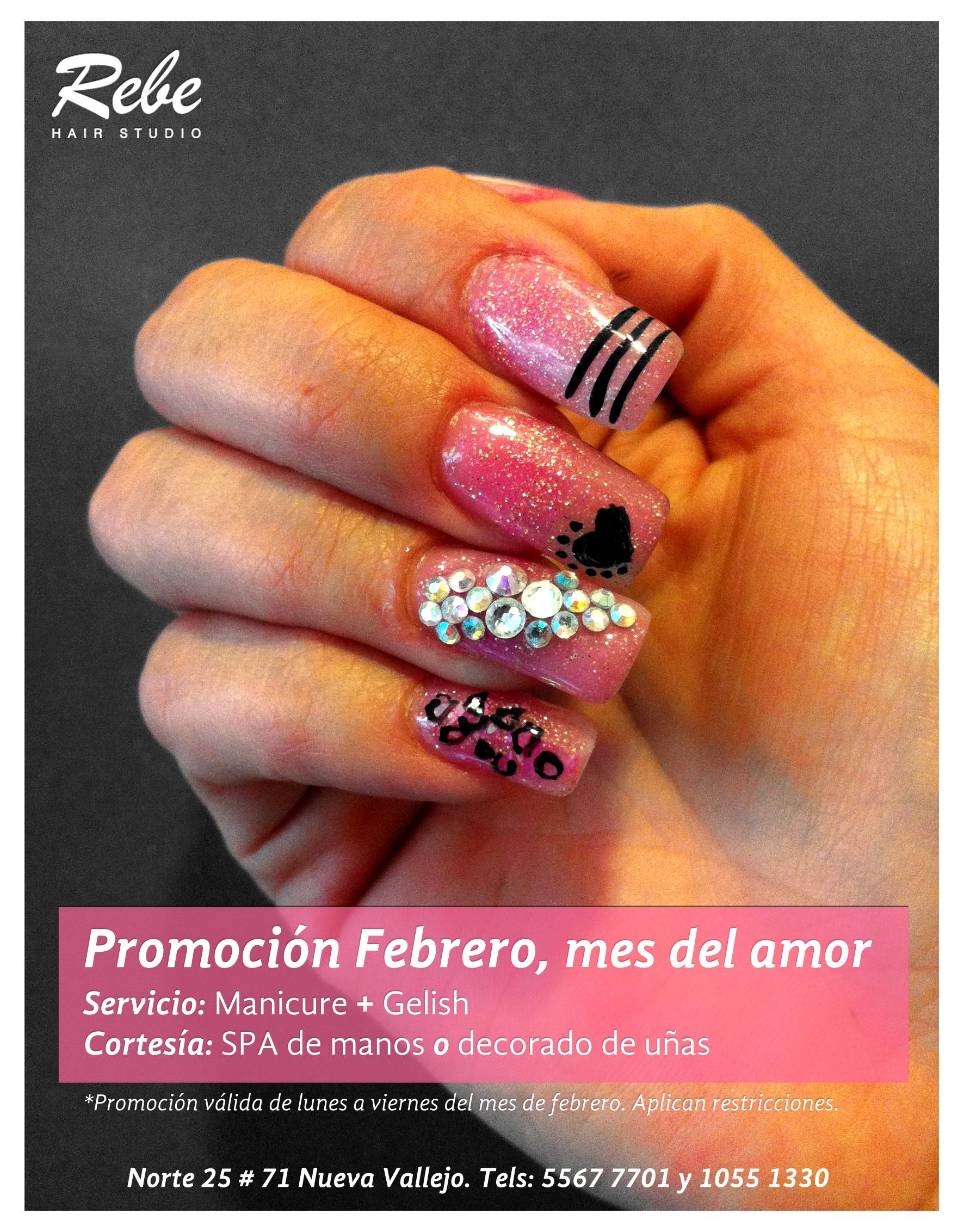 Promoción De Diseño De Uñas En El Mes De Febrero San Valentin
