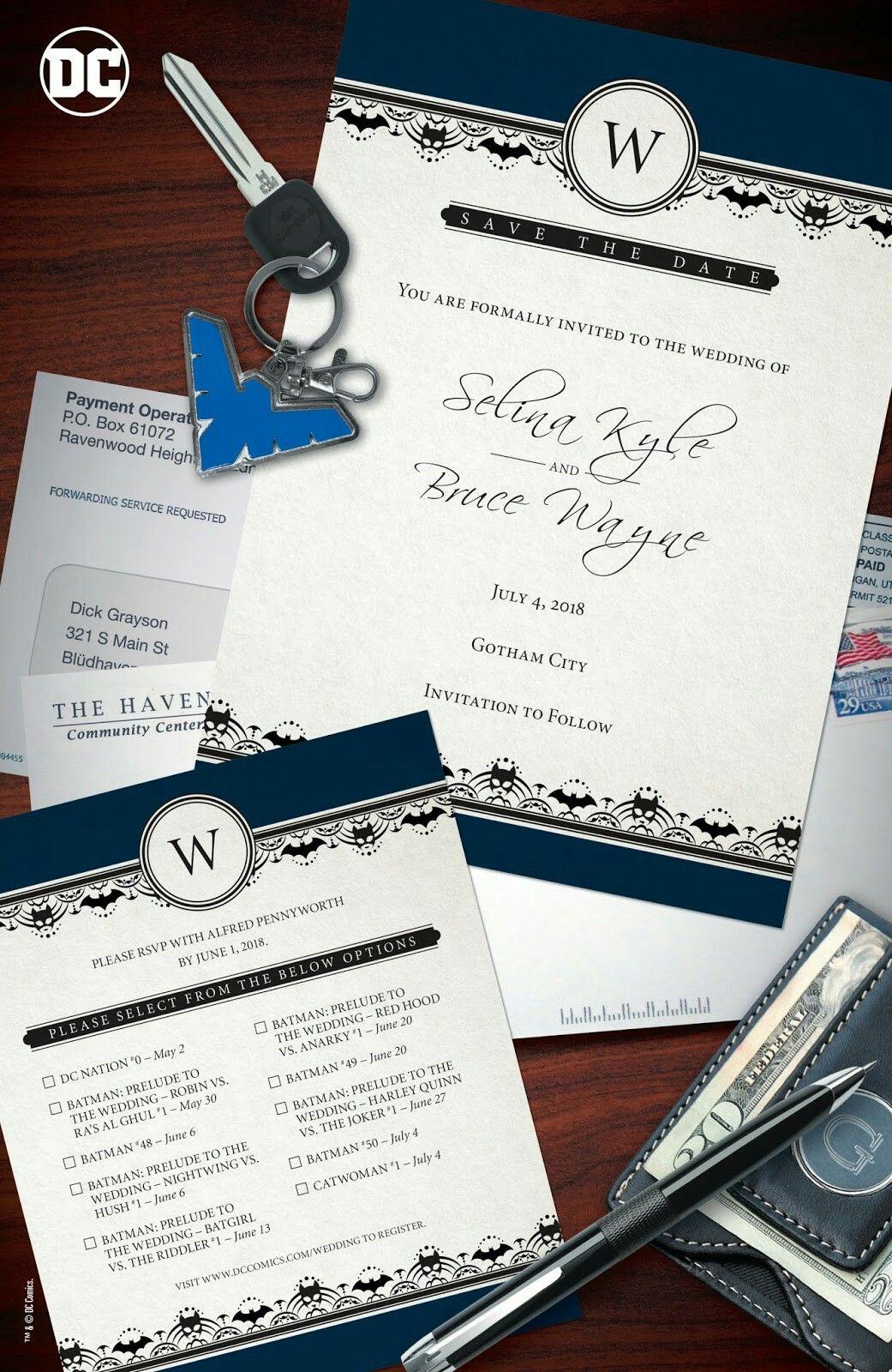 The Wedding Invite Nightwing Batman Wedding Dc Comics Gotham