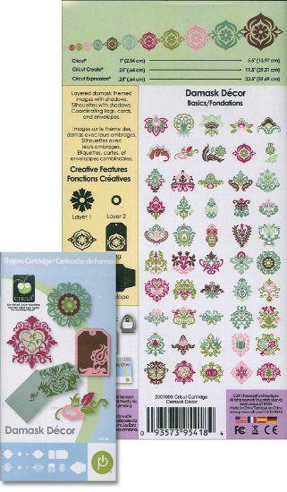 Cricut 2001009 Damask Decor Cartridge Arts