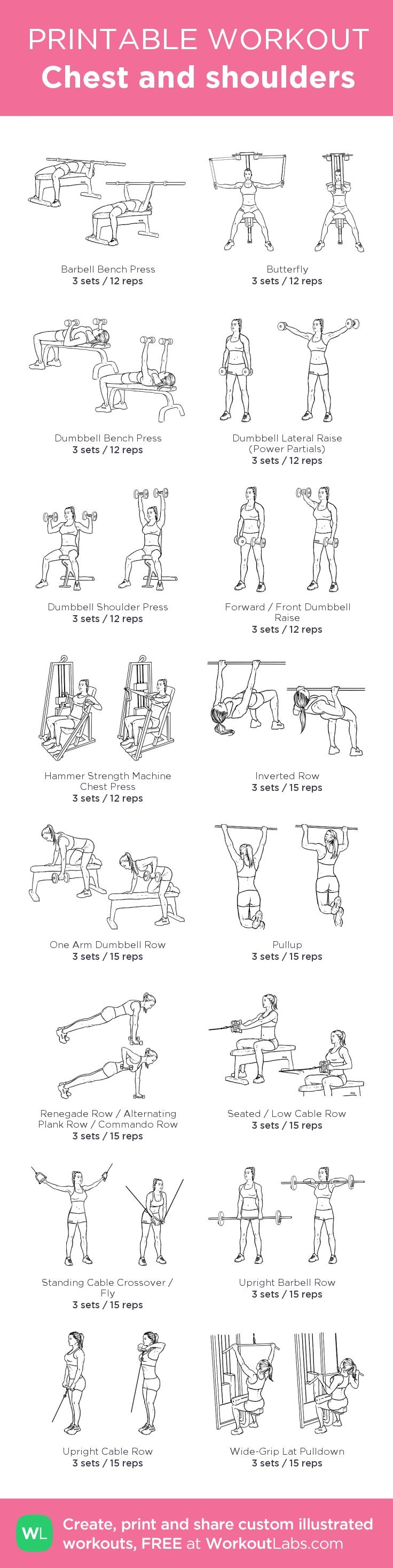 Chest and Shoulder workout | Posted By: NewHowtoLoseBellyFat.com ...
