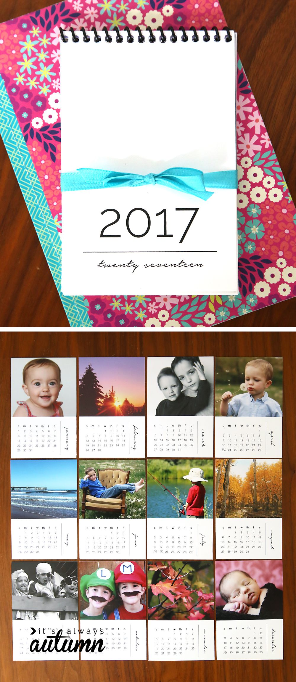 diy mini photo calendar w free printables printable calendars