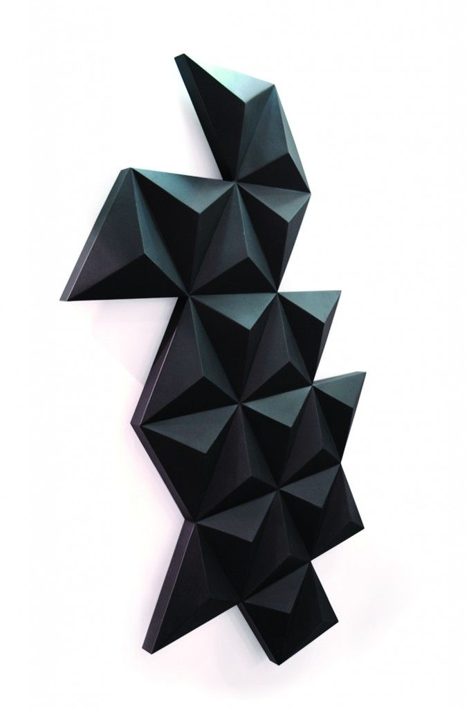 The Diamond radiator in black by Foursteel. On Architects Toy Box.