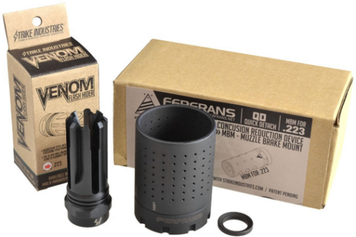 The S I Ferfrans System Comes With A Choice Of Muzzle Brake And The Flash Sound Reducing Can System Muzzle Brake