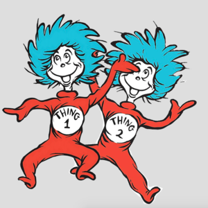 Thing One And Thing Two Dr Seuss Wiki Fandom Powered By Wikia Thing One Thing Two Seuss Dr Seuss Movies