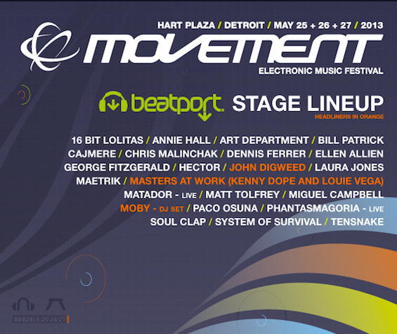 Movement 2013 Schedule Demf 2013 Electronic Music Festival