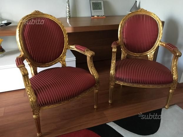 Coppia poltrone stile barocco - Arredamento e Casalinghi In vendita ...