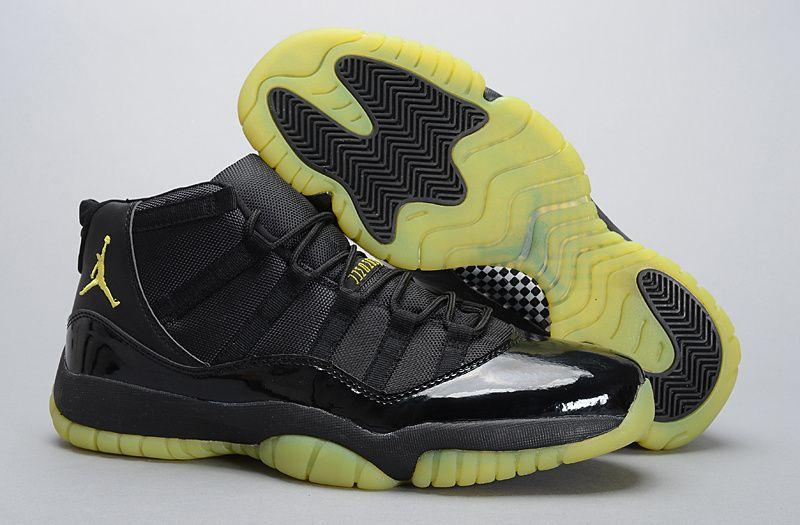 2014 New Air Jordan XI 11 Mens Shoes Black Red