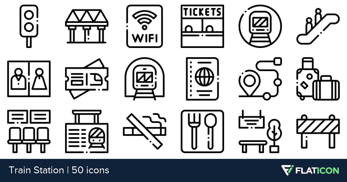 50 Premium Vector Icons Of Train Station Designed By Freepik Train Station Station Train