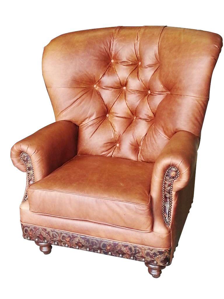 Cohiba Chair  Cowhide western furniture 888-643-5117  #custom #leather #furniture #beautifulchair #leatherchair