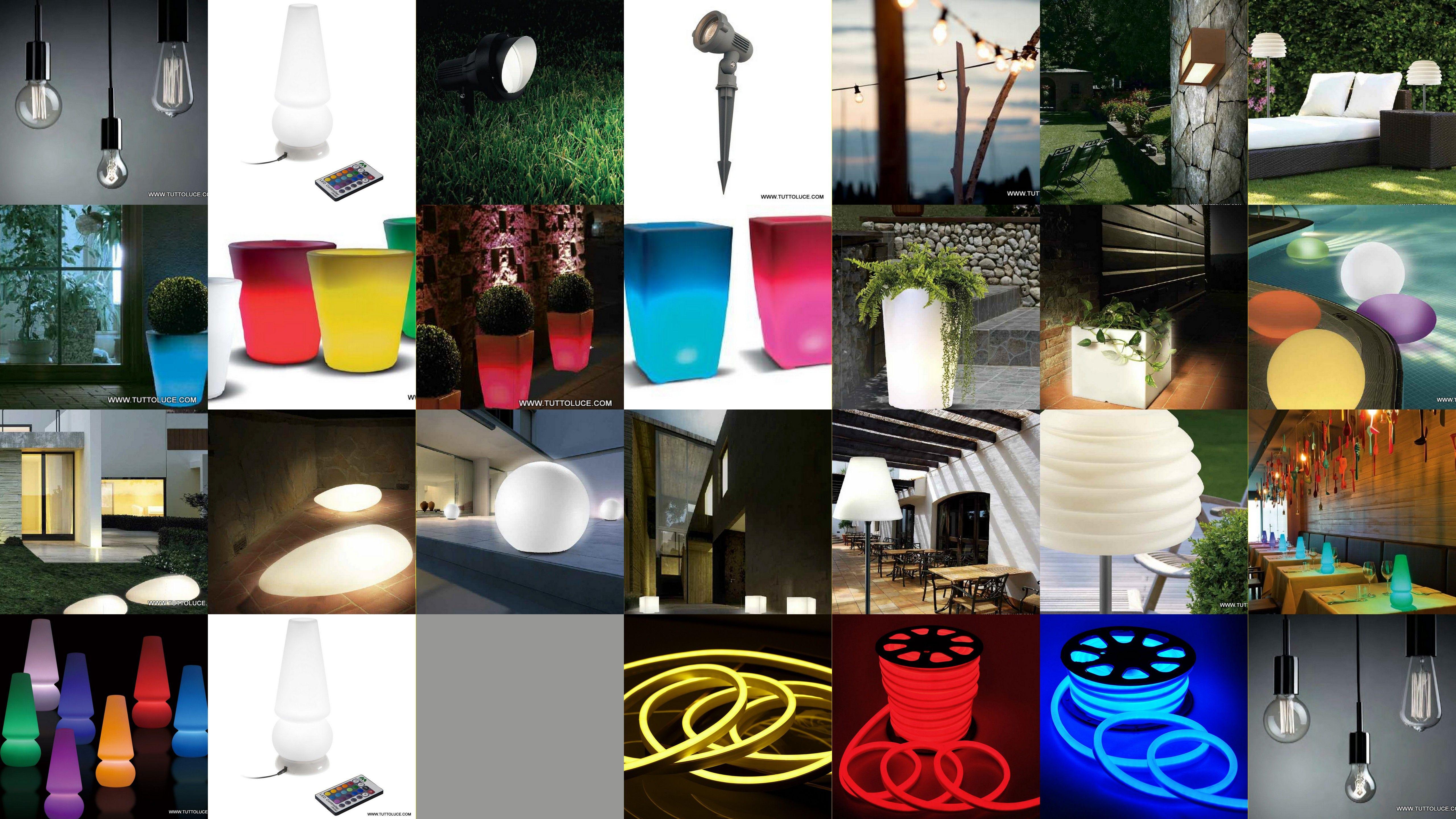 Vasi luminosi da giardino led e basso consumo luci per - Luci led esterno giardino ...