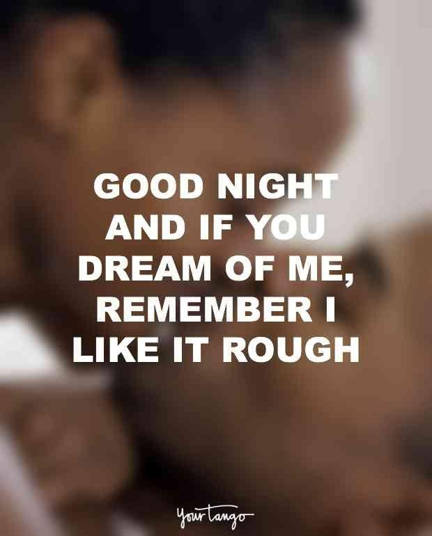 Sexy good night texts
