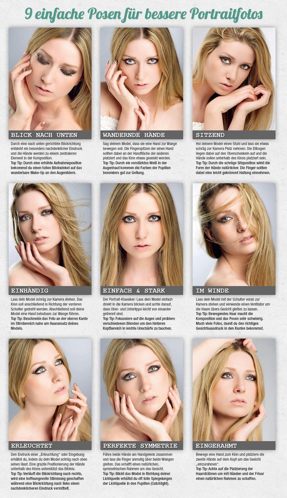 Infografik: 9 Posen die man als Portraitfotograf kennen muss | poses ...