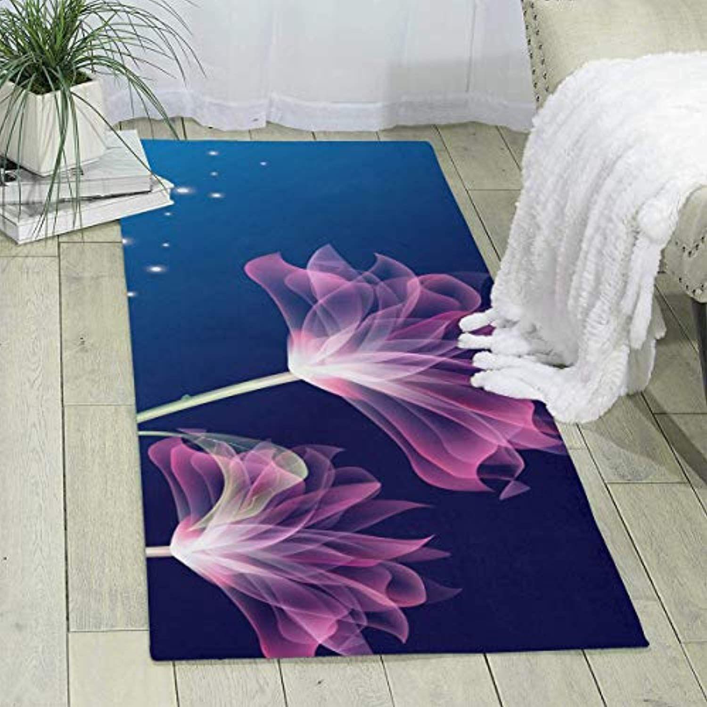 Moandji 3d Flower Abstract Area Rug Soft Indoor Modern