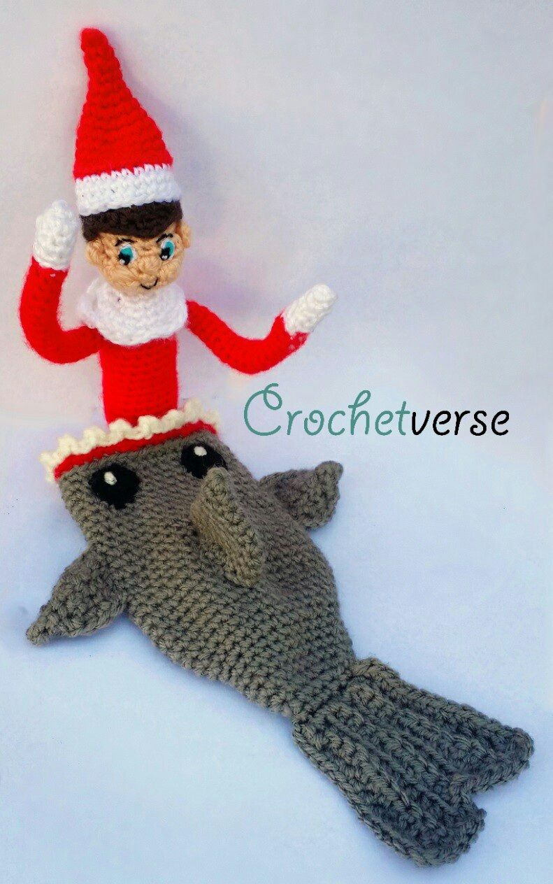 Elfshark... Shark pattern on page & click link on page for Ravelry ...