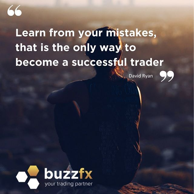 """""""Learn from your mistakes, that is the only way to become a successful trader"""" - David Ryan #forex #fx"""