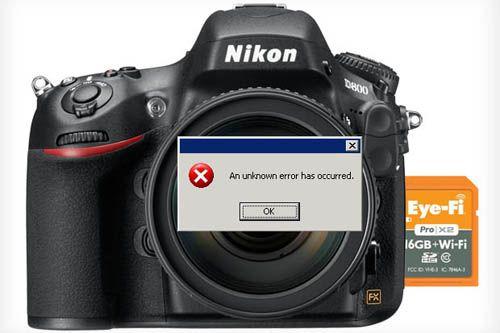 Nikon D800 D800E Eye-Fi incompatibility