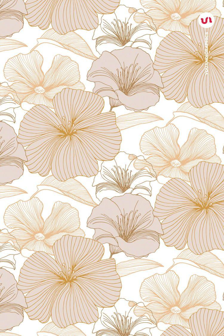 Elegant Flower Patterns In 2020 Floral Pattern Vector Flower Drawing Adobe Illustrator Pattern