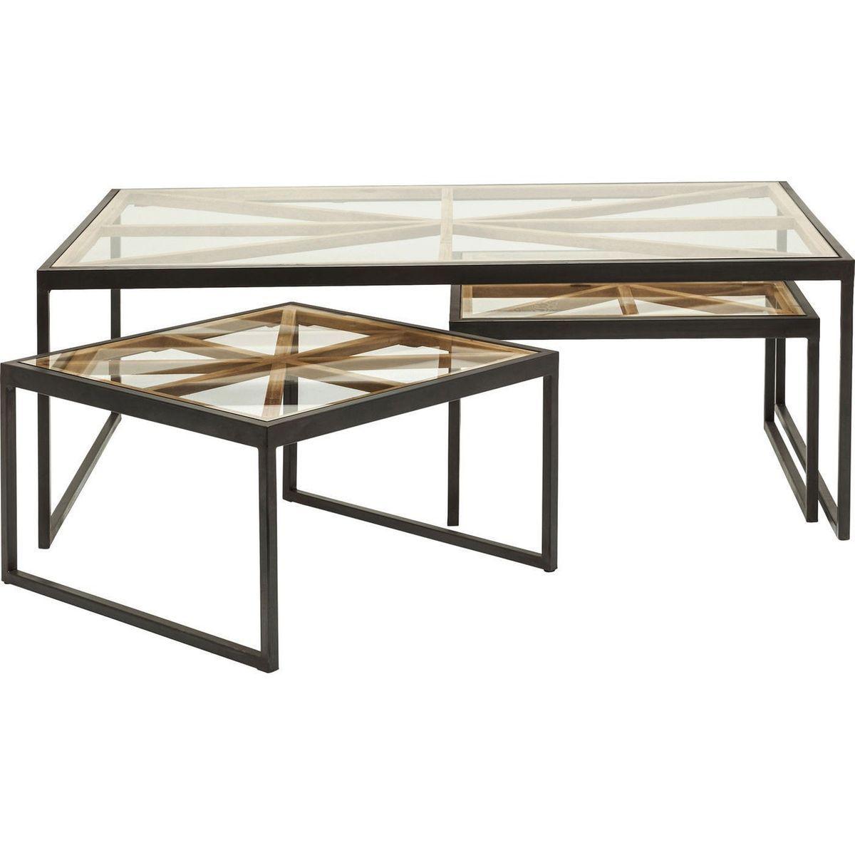 Tables Basses Beam Set De 3 Taille Taille Unique Table Beams Home Decor