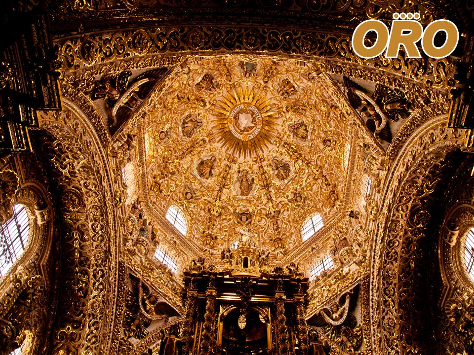 LAS MEJORES RUTAS DE AUTOBUSES. Sin lugar a dudas, uno de los más bellos templos católicos en la república, es La capilla de la virgen del Rosario en Puebla. Concebida en 1650, este templo es una muestra del alcance económico y pretensión de la Iglesia en esa época. Su decoración está elaborada en ónix, yesería dorada, pinturas y azulejos recubiertos con estuco. Le invitamos a conocerla viajando a través de Autobuses Oro. #autobusesapuebla