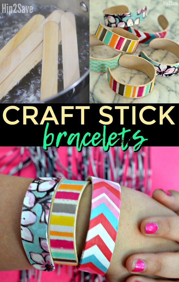 turn ordinary craft sticks into cute wearable bracelets