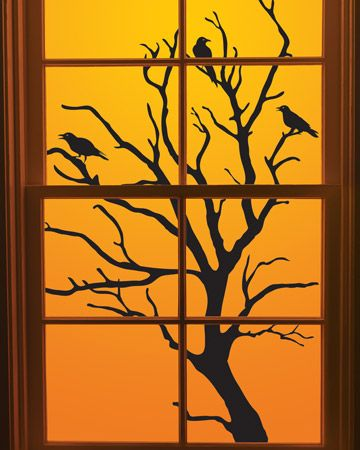 Thanksgiving Decorations Window Clings - Frugal Fun Handcrafted and - halloween window clings