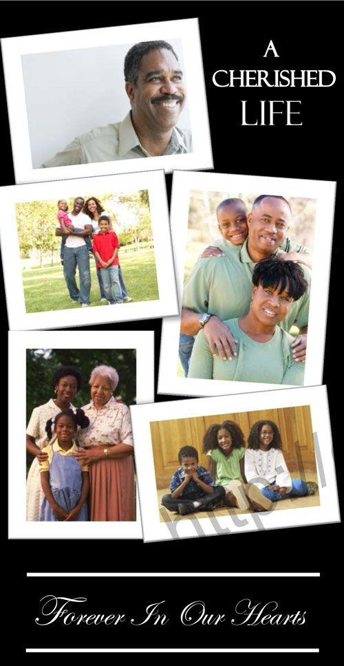 Print Ready Photo Collage Memorial Program FUNERAL PROGRAM obituary memorial service Collage Funeral Program In Loving Memory
