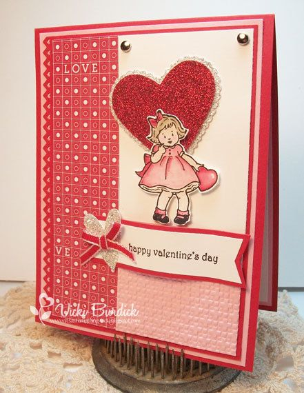 Happy Valentines Day with Stampin Up Greeting Card Kids