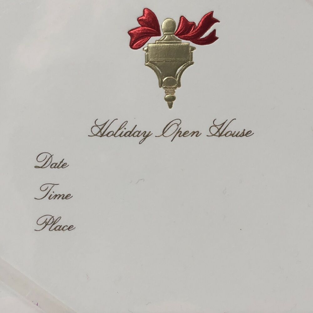 Another Place In Time Christmas Open House 2020 Holiday Christmas Open House Invitations William Arthur Box Of 10