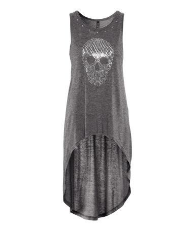 Skull Top {love the shape, love the print!} (a favourite gothic punk clothes…