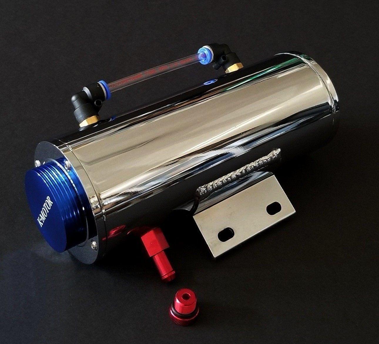 K Motor Performance Chrome Aluminum Overflow Coolant Tank Reservoir 2011 Chevy Cruze Cooling Radiator Water 500ml Catch