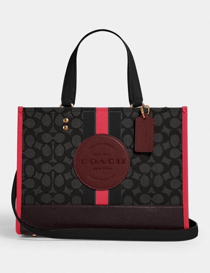 Dempsey Carryall In Signature Jacquard With Stripe And Coach Patch Carryall Coach Trendy Bag